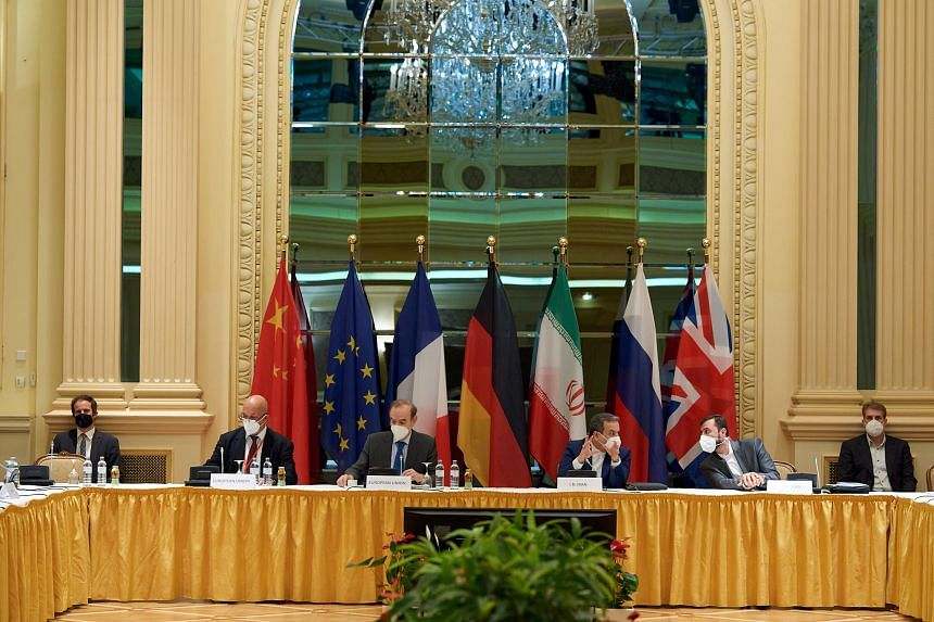 Representatives of countries in the 2015 nuclear deal at a meeting in Vienna in May this year.
