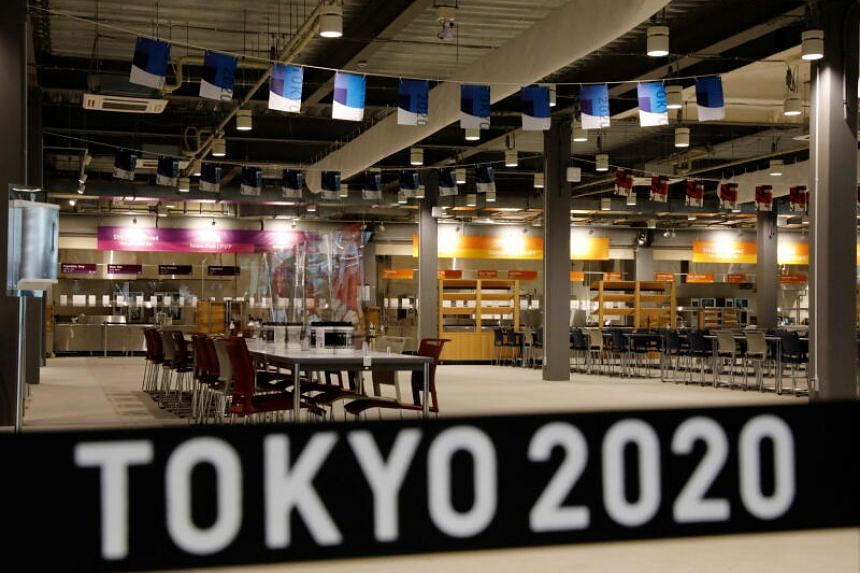 The main dining hall at the Tokyo 2020 Olympic and Paralympic Village in Tokyo.