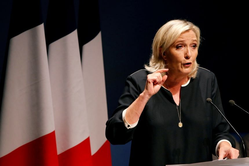 """Ms Marine Le Pen is hoping to capitalise on a rebrand that has seen her ditch promises of """"Frexit"""" and inflammatory rhetoric."""
