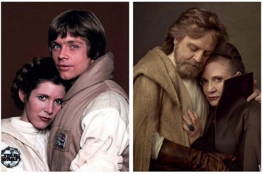 Mark Hamill posted throwback photos of him and Carrie Fisher both in and out of costume over the years.