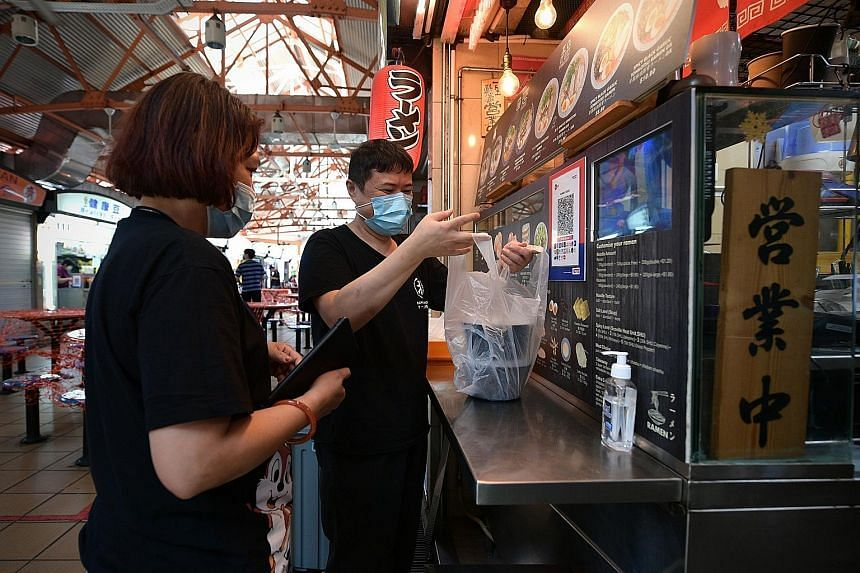 Mr Tan Hock Soon, who runs the Ramen Taisho stall at Maxwell Food Centre, offers islandwide delivery on his own terms via his website ramen.sg.