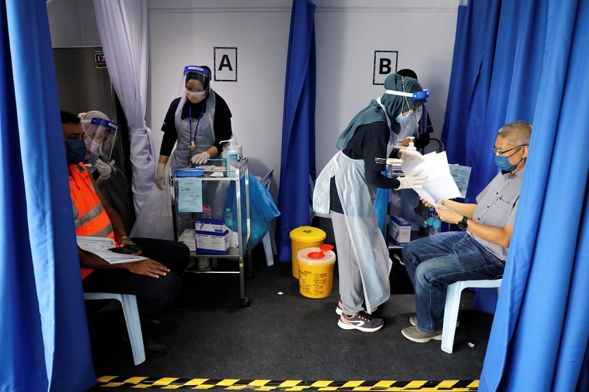1.6 million people, or 5 per cent of Malaysia's population, had received both doses of vaccine.
