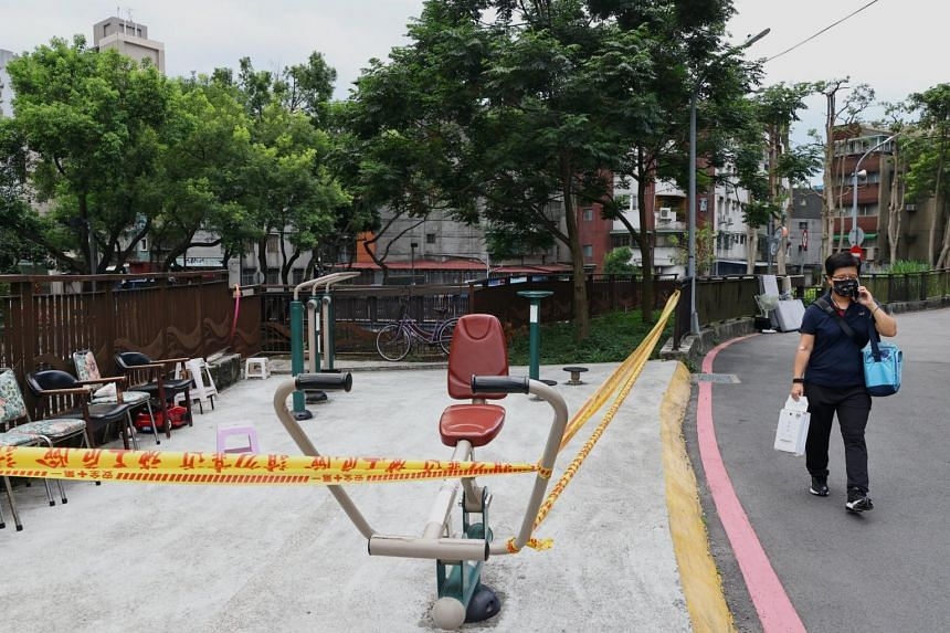 Since last month, Taiwan has tightened curbs on private gatherings and closed entertainment venues.