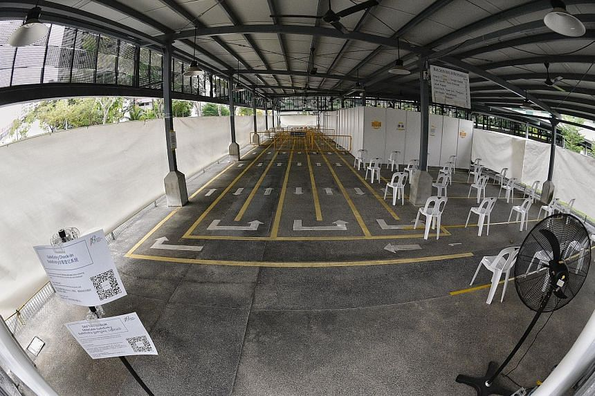 More quick test centres will be progressively set up, with one each in Tekka (above) and Yishun to be operational from June 21.