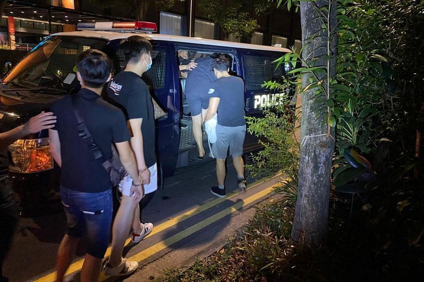 All were nabbed at a residential unit at Zion Road.