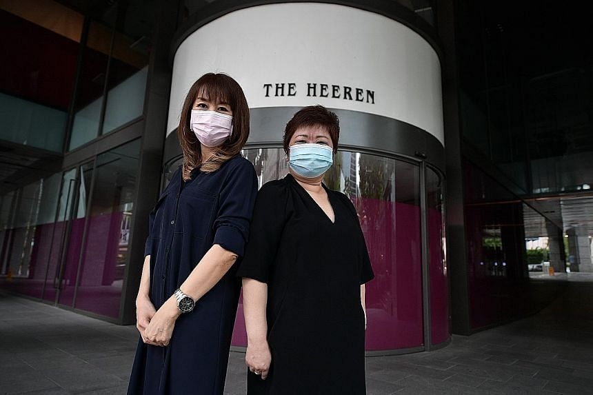 Robinsons Online's first two Singaporean hires are Ms Margaret Chew (left), 61, and Ms Jane Lee, 54, who have a combined experience of almost 60 years working for the retailer.