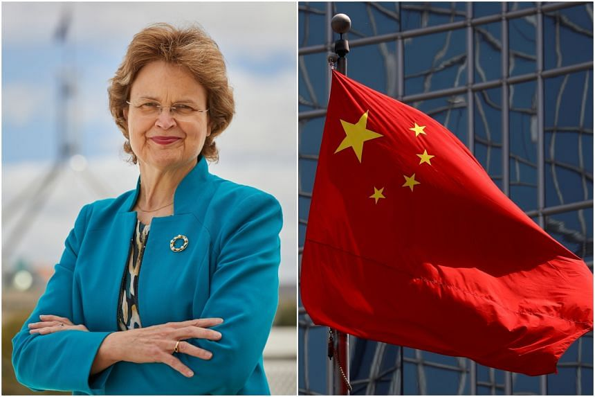 Frances Adamson said China sought to project strength, but the reality was somewhat different.