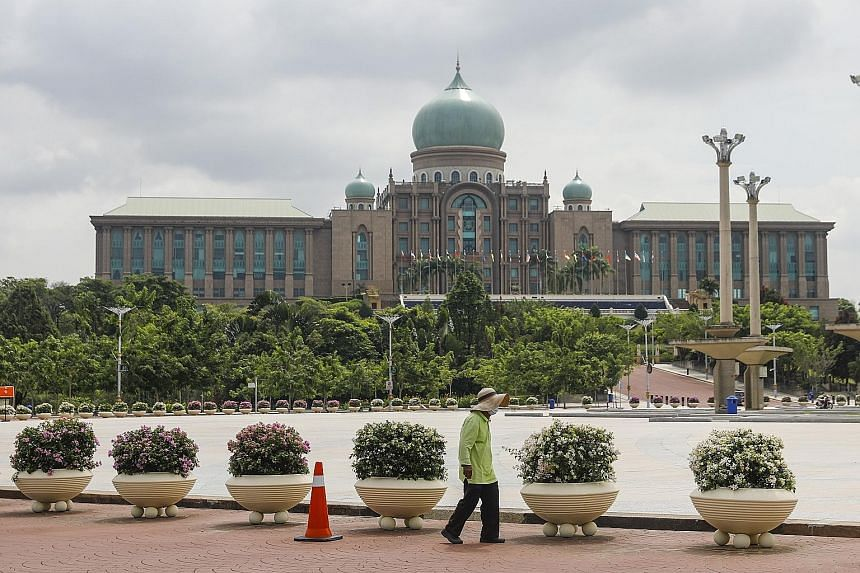The Malaysian Prime Minister's Office in Putrajaya, outside Kuala Lumpur. Malaysia's Parliament has not sat this year, largely because of a state of emergency declared in mid-January and set to expire on Aug 1. The King, Sultan Abdullah Ahmad Shah, a