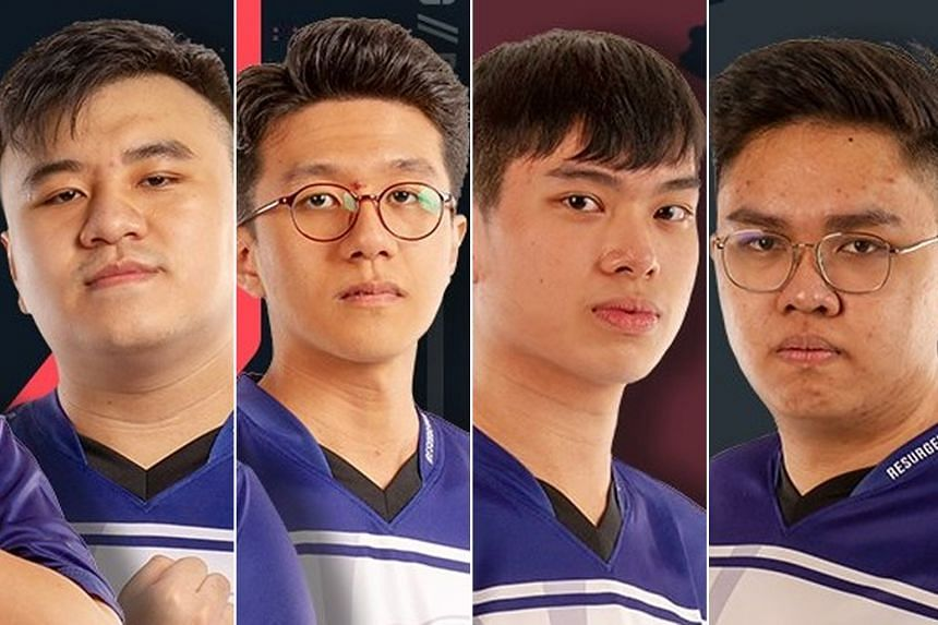After the bets were placed, the mastermind of the scheme told four team members about his plan to lose. The four - (from left) Mr Justin Wong Chong Cheng, Mr Du Min Yeo, Mr Benedict Tan and Mr Sengdala Jamnalong - did not want to lose, but hid what t