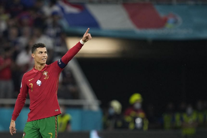 Cristiano Ronaldo during Portugal's Euro 2020 game against France in Budapest on June 23.