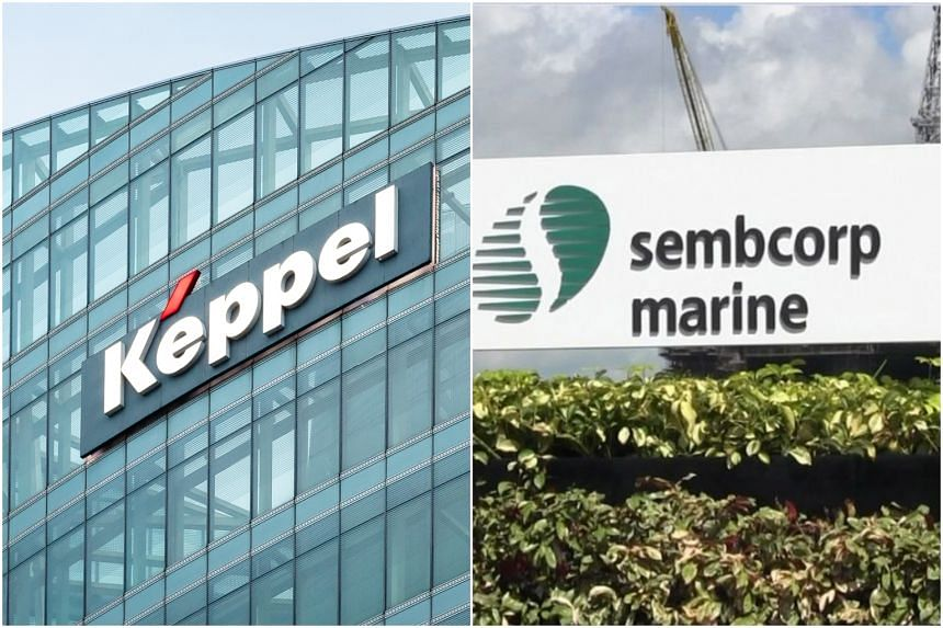 Keppel Corp and Sembcorp Marine requested in separate filings for a halt in the trading of their shares pending announcements.