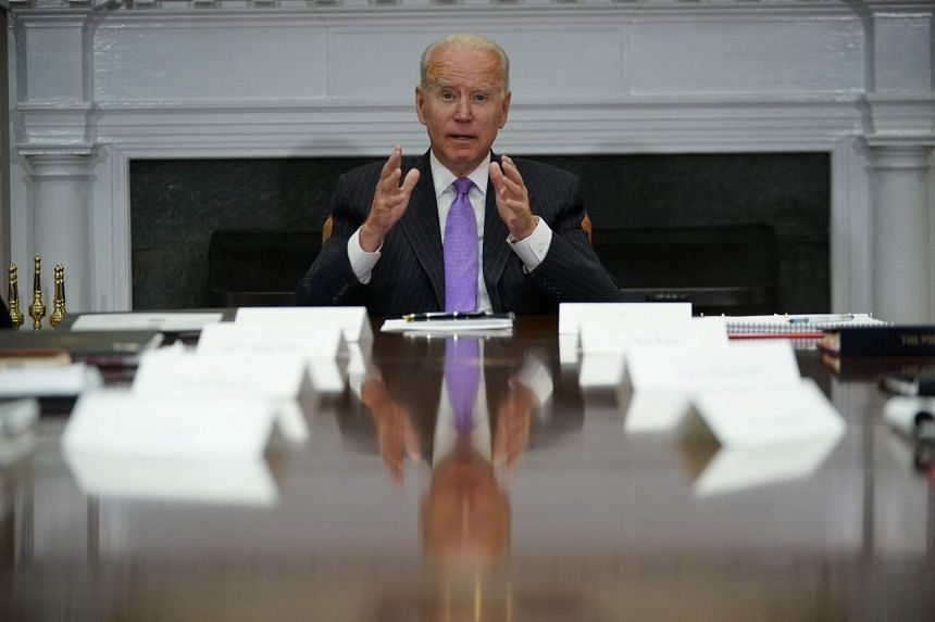 Biden (above) was to announce further details following a meeting with civil and law enforcement leaders.