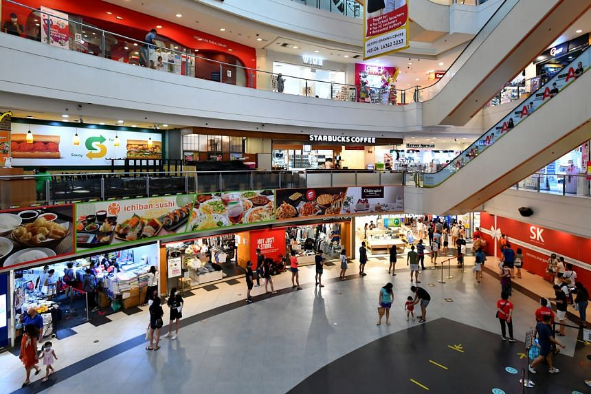 Hougang Mall on June 13, 2021. It is possible that the rates at which new cases and clusters emerge will not fall further without more extreme social restrictions.
