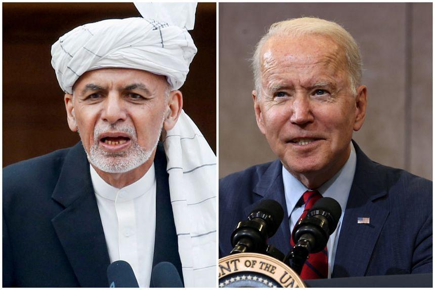 Afghan President Ashraf Ghani will meet his US counterpart Joe Biden on June 25, 2021.