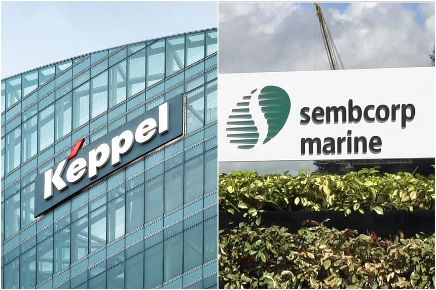 Keppel shares jumped 29 cents or 5.4 per cent to $5.40 at 9.04am while Sembmarine fell 4.6 cents or 24 per cent to 14.5 cents.