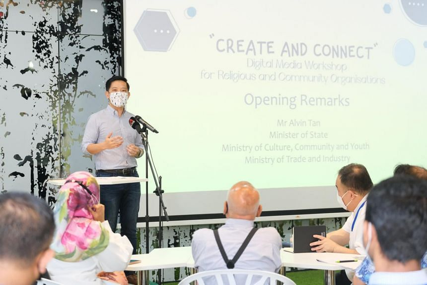 Minister of State for Culture, Community and Youth Alvin Tan speaking at the launch of the initiative on June 25, 2021.