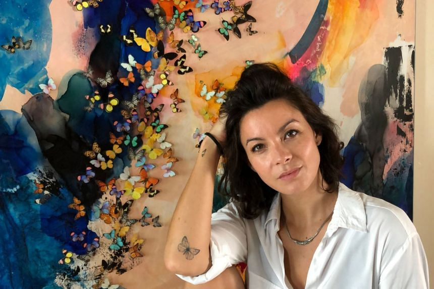 Self-taught artist Tunku Khalsom creates vivid masterpieces and credits her love of colour to growing up in vibrant Malaysia. PHOTO: TUNKU KHALSOM