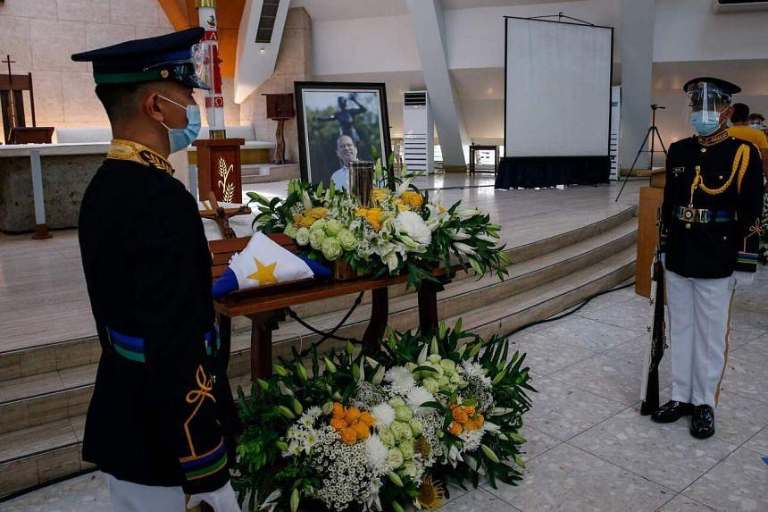 A public viewing for former Philippine President Benigno Aquino III in Manila.