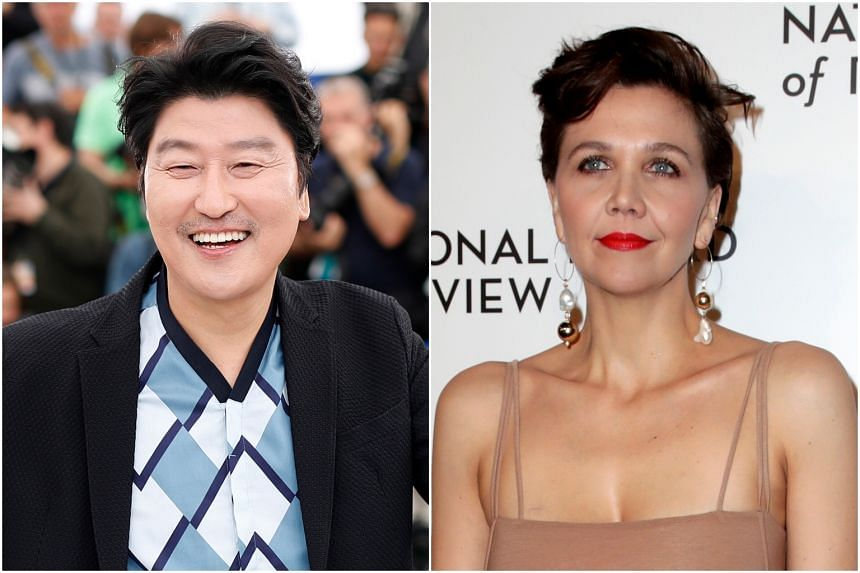 Parasite star Song Kang-ho (left) and American actress Maggie Gyllenhaal.