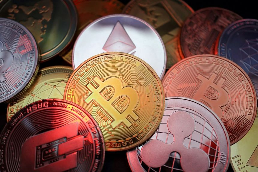 Cryptocurrencies (represented physically above) are hard to trace, in turn making them difficult to regulate.
