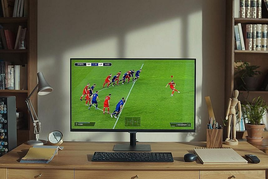 Above and left: The Samsung 32-inch smart monitor with mobile connectivity and UHD resolution lets you work seamlessly without a PC - with remote access and Office 365. It also functions as a TV.