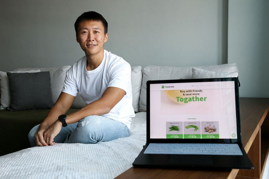 Mr Victor Qin launched the Togather.sg platform for merchants to sell through group buys.