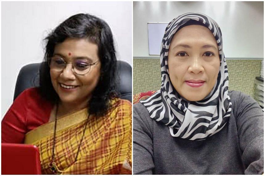 "Madam Kamache Doray Rajoo (left) and Madam Sue Azni suffer from ""long Covid"" syndrome."