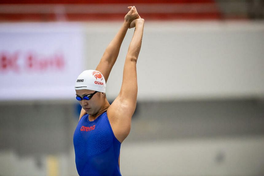 Quah Ting Wen earned a 100m freestyle spot in the SEA Games in Vietnam after clocking 55.44sec at the 16th Singapore National Swimming Championships Invitationals.