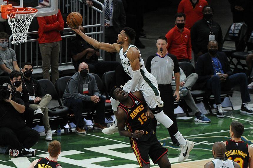Giannis Antetokounmpo scored 25 points for the Milwaukee Bucks.