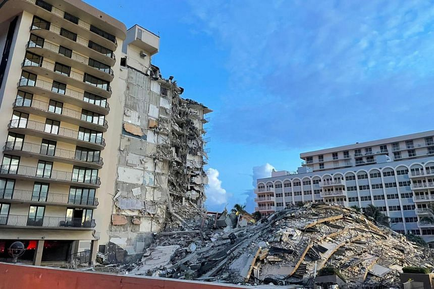 The disaster occurred early on Thursday morning, when a large section of the 40-year-old building crumbled to the ground.