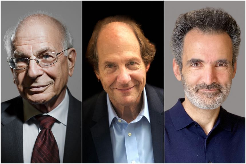 (From left) Psychologist and Nobel laureate Daniel Kahneman, Harvard Professor Cass R. Sunstein and HEC Paris Professor Olivier Sibony explore how and why judgments go wrong and what can be done to correct that in the book Noise.