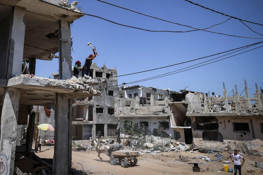 The Gaza government said 2,200 homes were destroyed and 37,000 damaged by Israeli shelling.