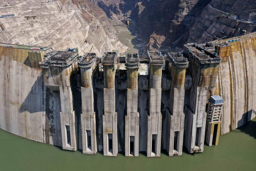The giant Baihetan hydropower plant is located on the border between the southwestern provinces of Yunnan and Sichuan.