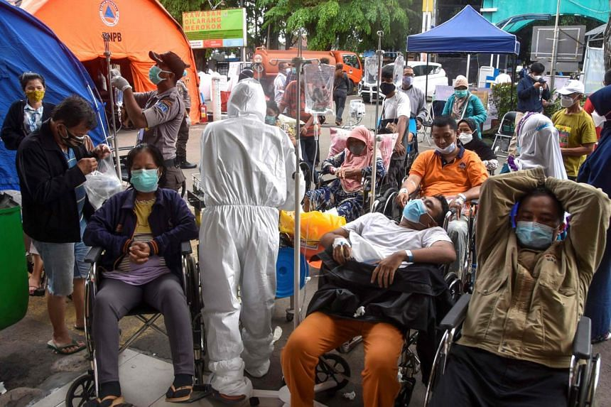 Coronavirus infections in Indonesia have tripled in the past month.