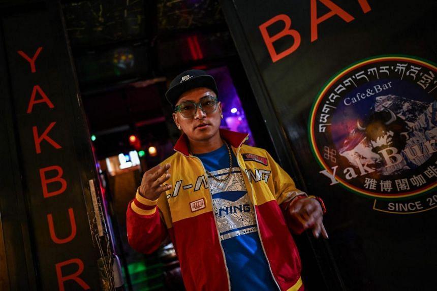 Tibetan rapper Tenzin Dhondup is a leading light of the region's hip-hop scene.