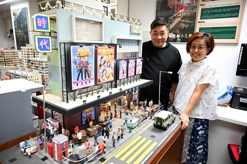 Model makers Maggie Chan and Tony Lai of Toma Miniatures at their studio in Hong Kong on June 23, 2021.