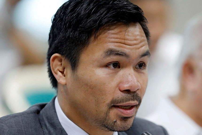 Philippine boxer-turned-lawmaker Manny Pacquiao was challenged to name corrupt government offices.