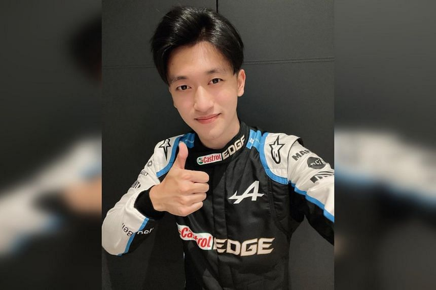 """Zhou Guanyu called his first time behind the wheel in Formula One practice """"a dream coming true""""."""