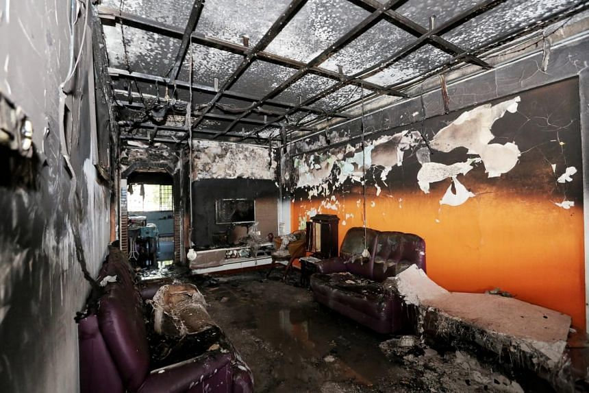 Four units were said to be badly affected by the fire.