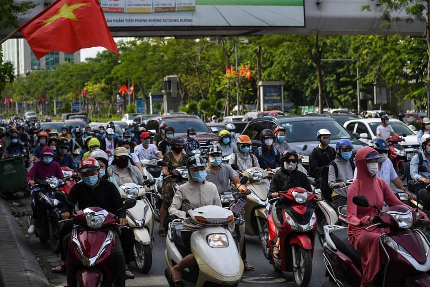 Vietnam's exports in the first half of this year rose 28.4 per cent from a year earlier to US$157.63 billion (S$211.67 billion).