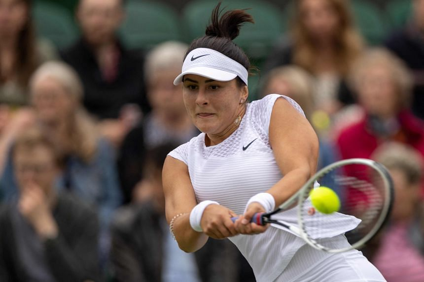 Bianca Andreescu lost to Alize Cornet 6-2, 6-1 in the first round of Wimbledon on June 30, 2021.
