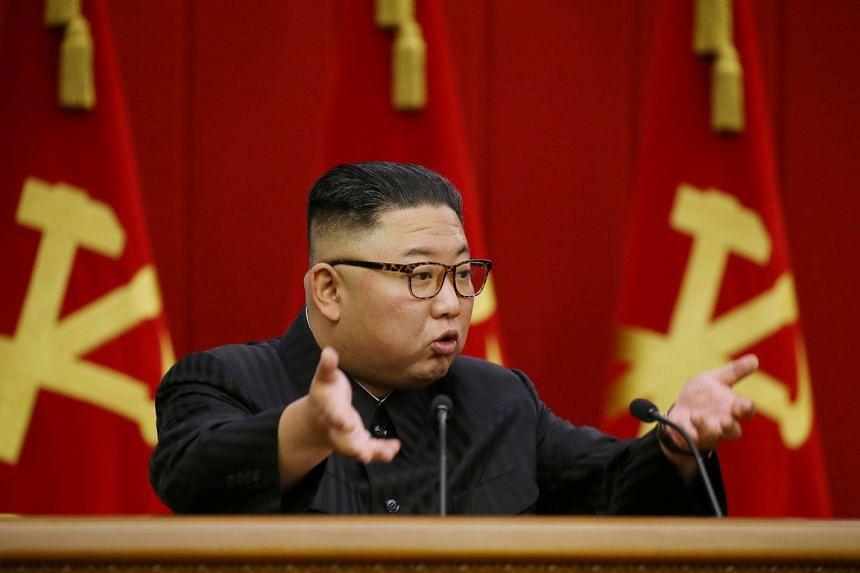 North Korean leader Kim Jong Un in Pyongyang on June 18, 2021.
