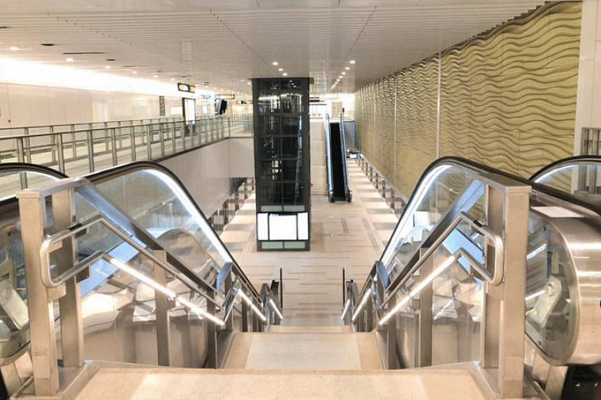 Upper Thomson station. When fully opened in the latter half of the decade, the TEL will interchange with five existing MRT lines as well as the Cross Island Line.
