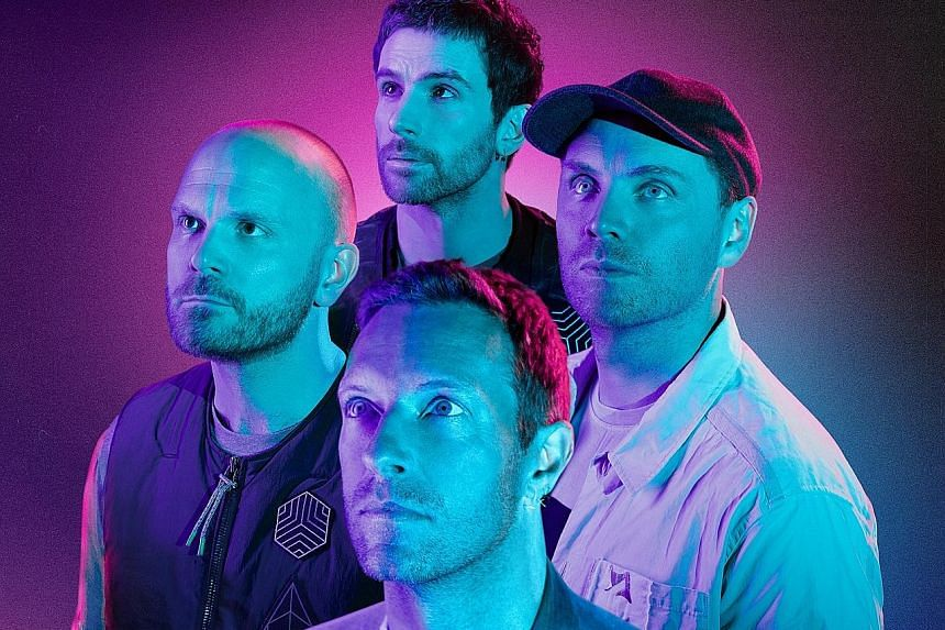 Coldplay's (clockwise from foreground) Chris Martin, Will Champion, Guy Berryman and Jonny Buckland.