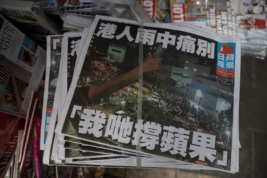 Hong Kong pro-democracy newspaper Apple Daily was forced to close in June.