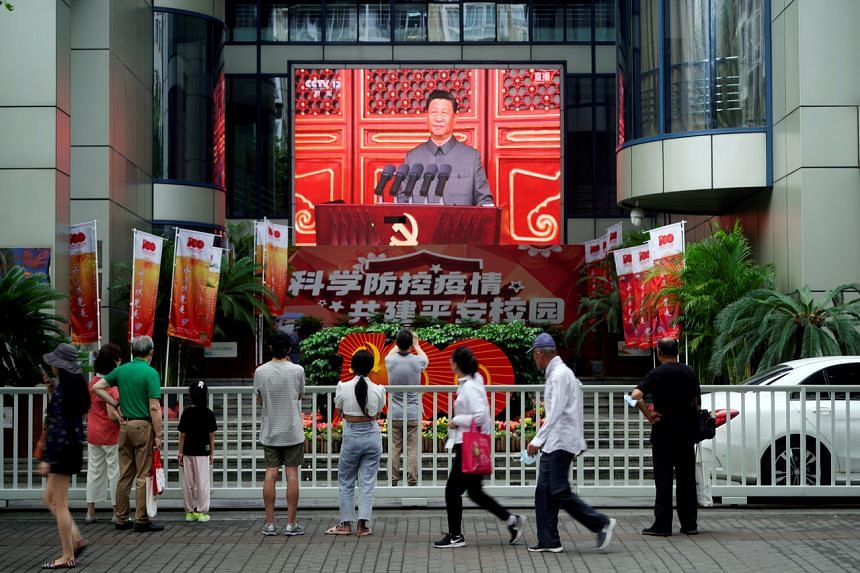 Chinese President Xi Jinping had sounded a thinly-veiled warning against external forces in his speech.