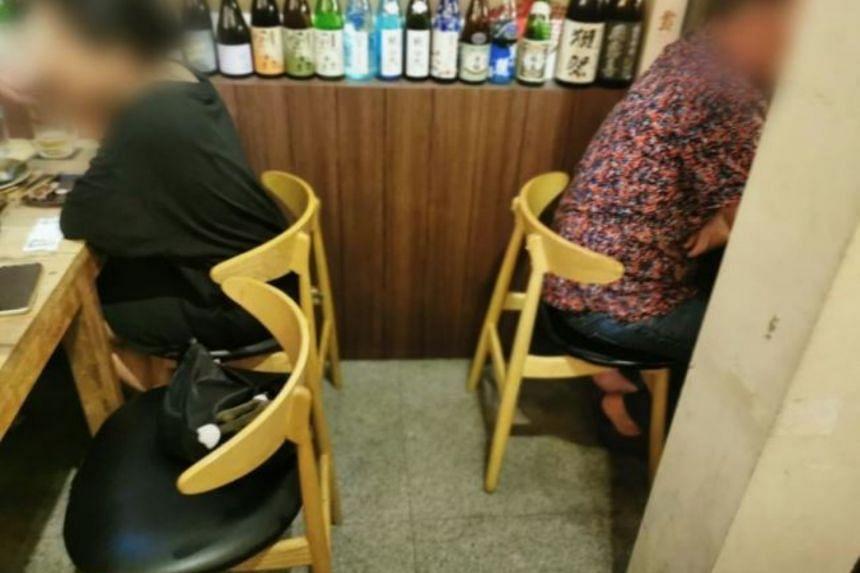 Shu-kuu Sakaba allowed multiple breaches of 1m safe distancing between seated customers.
