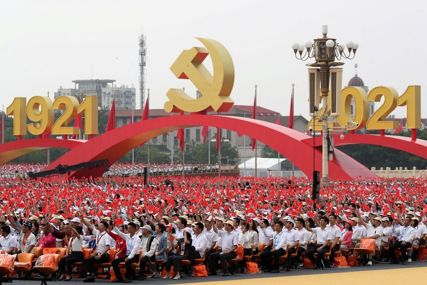 Some 70,000 spectators had gathered in the heart of Beijing to celebrate the centenary of China's ruling party.
