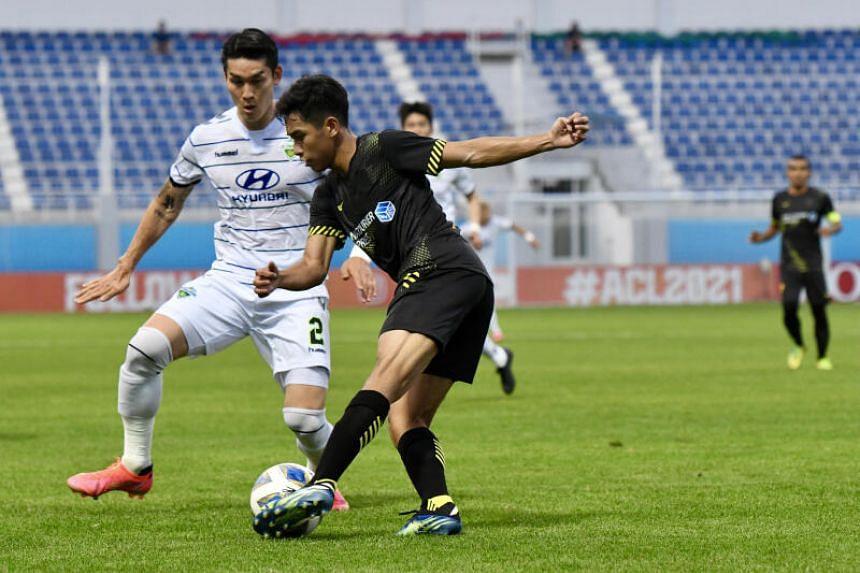 The match in Tashkent's Lokomotiv Stadium was the Stags' third in seven days.