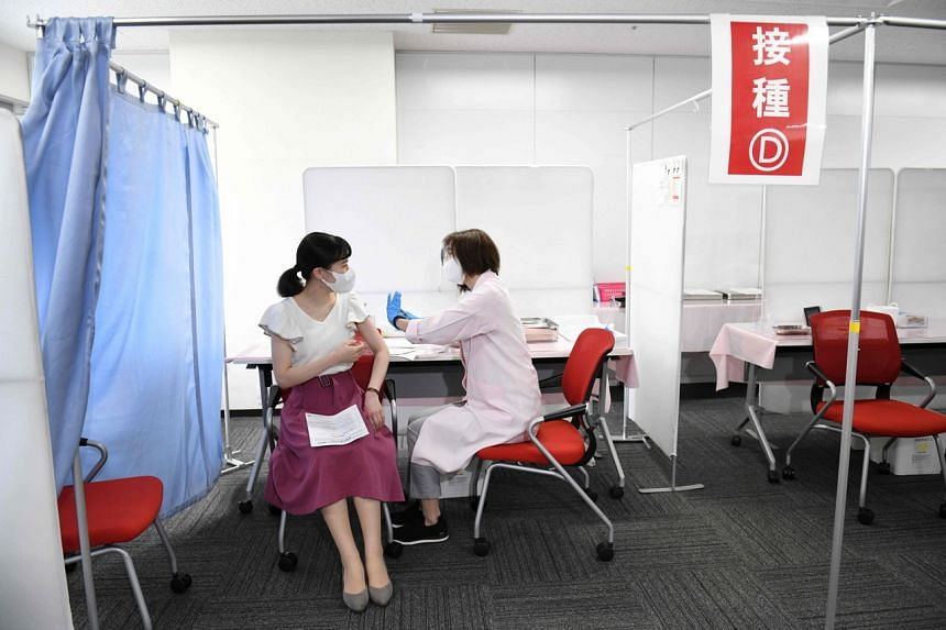 Japan administered more than a million daily shots for several days in June but only about 12 per cent of the population is fully vaccinated.